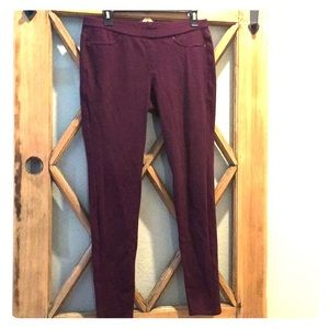 HUE Wine/Burgundy Colored Jeggings